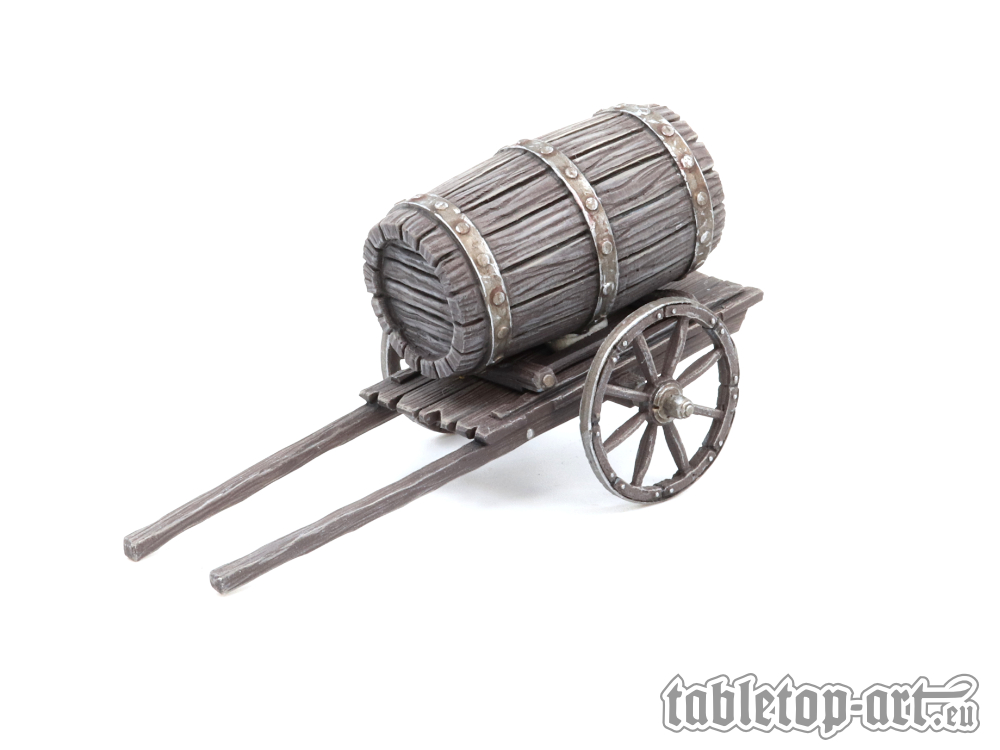 Small Cart with Barrel