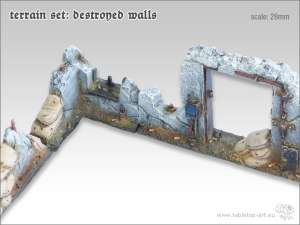 Terrain Set - Destroyed Walls