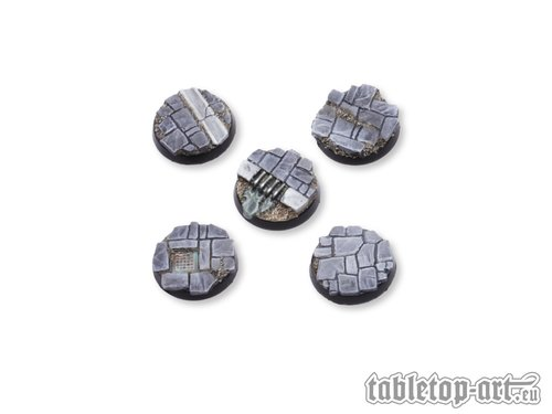Dirty Old Town Bases - 25mm
