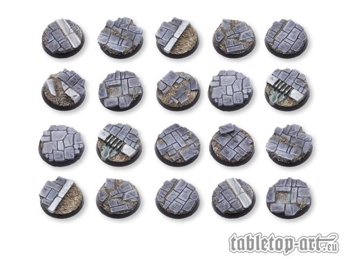 Dirty Old Town Bases - 25mm DEAL