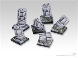 Stonefloor Bases - 20x20mm pillars (5)