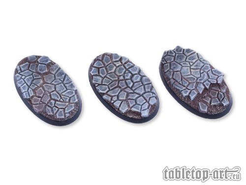Cobblestone Bases - 60mm Oval (3)