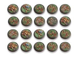 Woodland Bases - 30mm Round Lip DEAL (20)