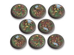 Woodland Bases - 40mm Round Lip DEAL (8)