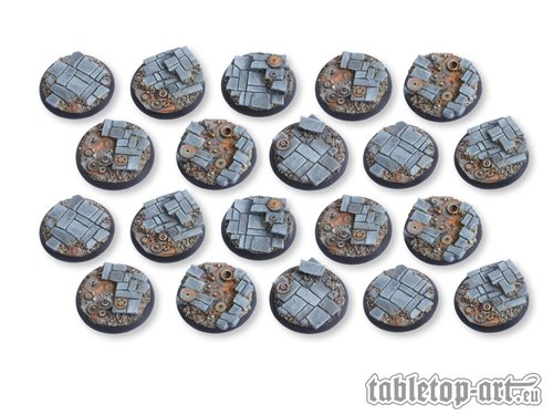Ancient Machinery Bases 40mm DEAL 8 - *Tabletop Art*