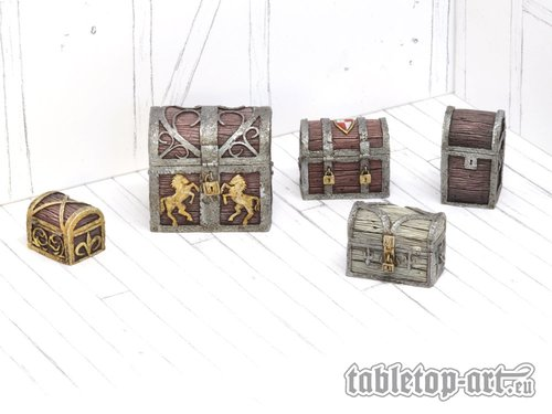 Travel Chests And Boxes - Set 1 (5)