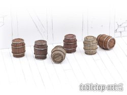 Wooden Barrels Set 1 - Small Barrels (6)