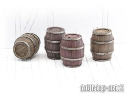 Wooden Barrels Set 3 - Big Barrels (4)