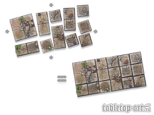 Lizard City Bases - 50x50mm