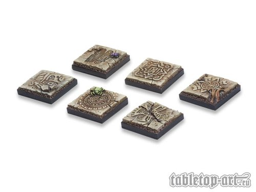 Lizard City 50x50mm Bases für Miniaturen