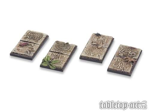 Lizard City Bases 25x50mm