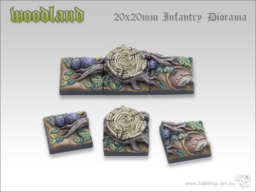 Woodland Bases - 20x20mm Diorama (3)