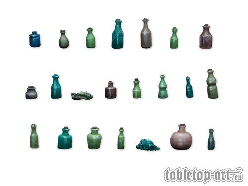 Bottles and small bottles 1