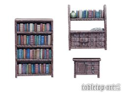 Bookshelfs & commode set