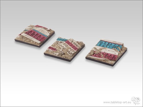 Temple of Isis Bases - 40x40mm (2)