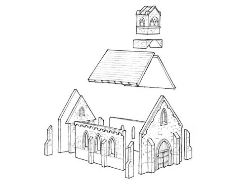Normandy church - 15mm