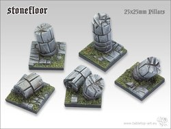 Stonefloor Bases - 25x25mm pillars (5)