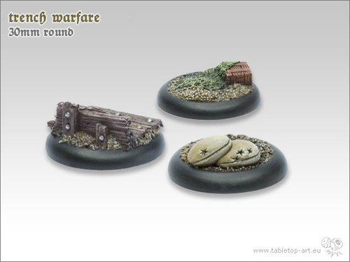 Trench warfare Bases - 30mm RL (5)