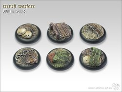 Trench Warfare Bases - 30mm Round Lip (5)