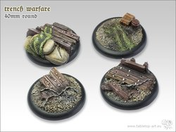 Trench warfare Bases - 40mm RL (2)