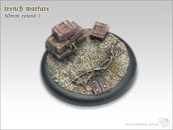 Trench Warfare Bases - 50mm Round Lip 1