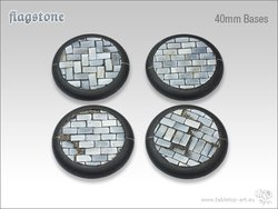 Flagstone Bases - 40mm Round Lip (2)