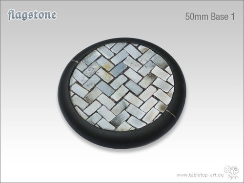 Flagstone Bases - 50mm Round Lip 1