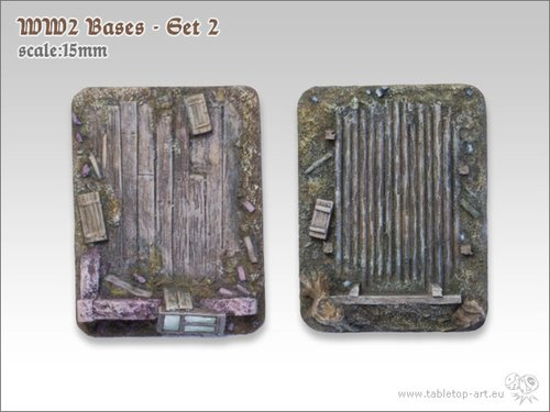 WW2 Bases - Set2 | 15mm