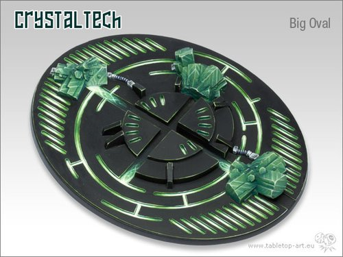 Crystal Tech Bases - 120mm Oval 1
