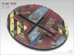 Scrap Steel Bases - 120mm Oval 1