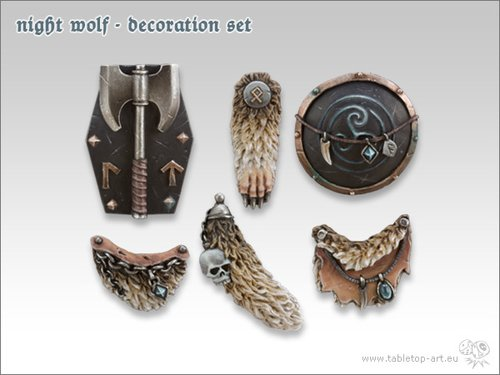 Night Wolf - Decoration-Set