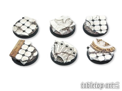 3 - Tabletop Art Ruins of Sanctuary Bases 60mm Oval