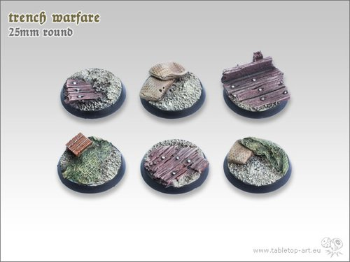 Trench warfare Bases - 25mm (5)