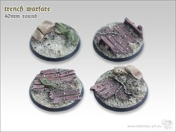 Trench warfare Bases - 40mm (2)