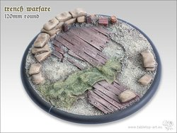 Trench Warfare Bases - 120mm Round Lip 1