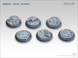 Mystic Circle Stones Base - 30mm Round Lip (5)
