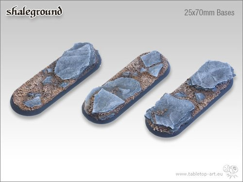 Shaleground | 25x70mm Bases