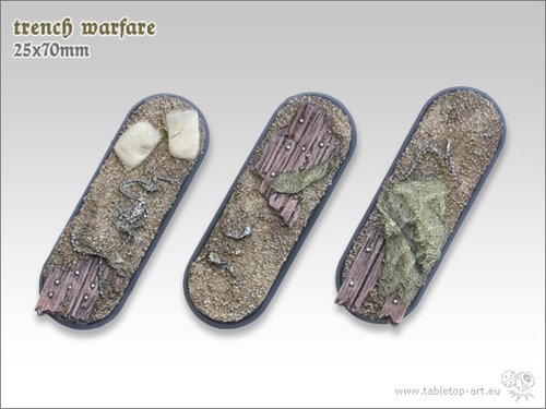Trench warfare Bases - 25x70mm (3)