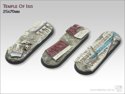 Temple of Isis Bases - 25x70mm