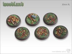 Woodland Bases - 30mm Round Lip (5)