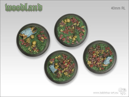 Woodland Bases - 40mm RL (2)