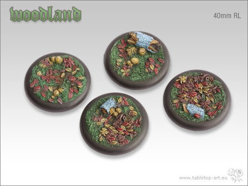 Woodland Bases - 40mm Round Lip (2)