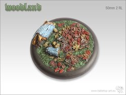 Woodland Bases - 50mm Round Lip 2