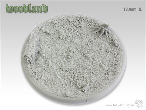 Woodland Bases - 120mm Round Lip 1