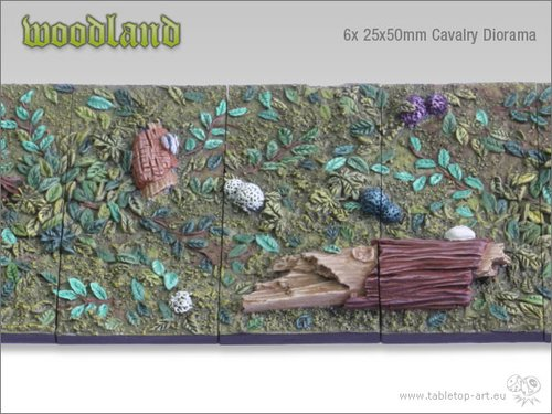 Woodland | 25x50mm Cavalry Diorama