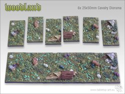 Woodland Bases - 25x50mm Diorama (6)