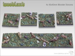 Woodland Bases - 40x40mm Diorama (4)