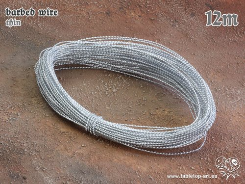 barbed wire - thin - 12m