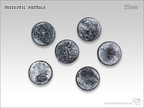 Meteoric Surface Bases - 25mm (5)