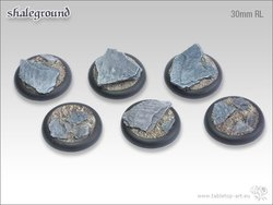 Shaleground Bases - 30mm RL (5)